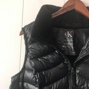 Calvin Klein Duck Down Puffer Vest, Black Vest